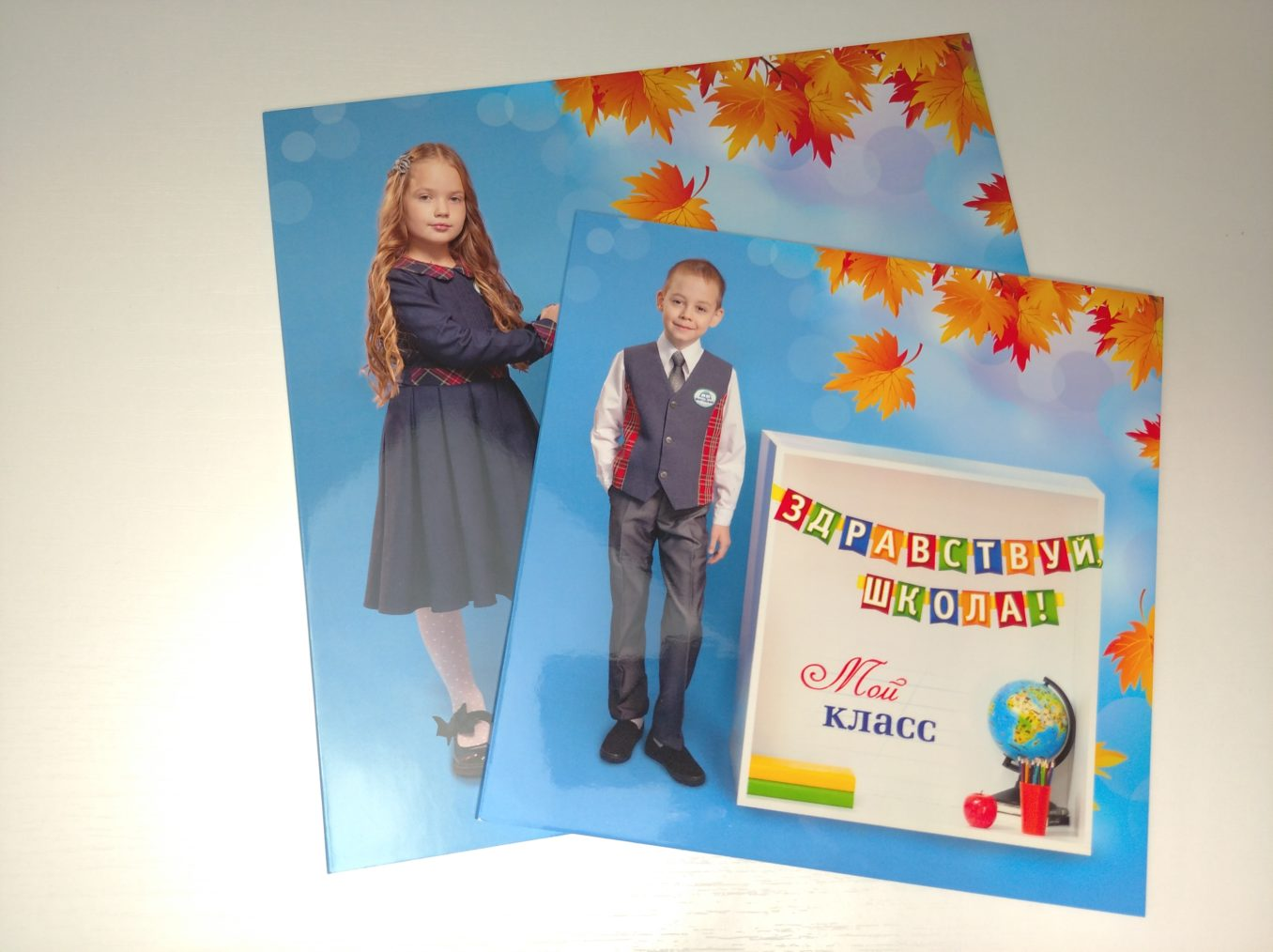 Общее фото в кубах для начальной школы
