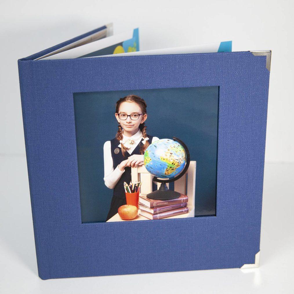Выпускной альбом начальная школа обложка из ткани с окном